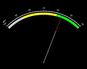 電波強度をメーター表示