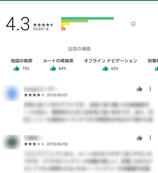 Google Play ストア アプリ詳細画面 [ユーザーレビュー]